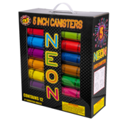 "Firework Reloadable Tnt 5"" Neon Canister Thumbnail 1"