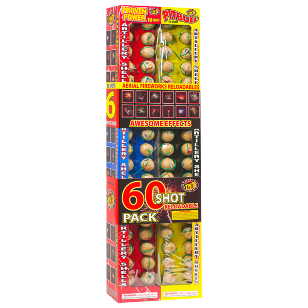 Firework Reloadable Tnt 6 Pak Reloadable 10 Shot