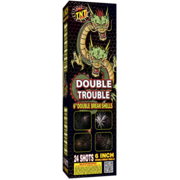 "500 Gram Firework Reloadable Double Trouble 6"" Double Break Canister Shells Thumbnail 1"