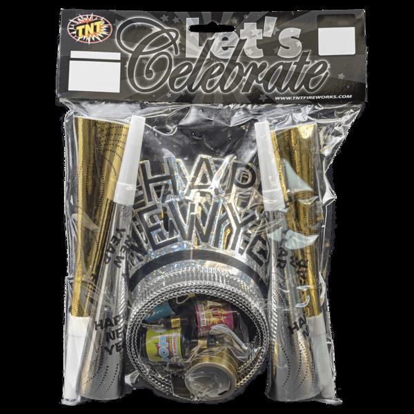 Firework Novelty Sparkler Let's Celebrate   4pk