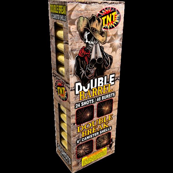 500 Gram Firework Reloadable Double Barrel 6 Inch Canister Shells