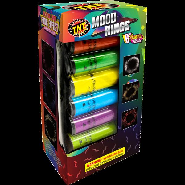 500 Gram Firework Supercenter Mood Rings 6 Inch Canister Shells