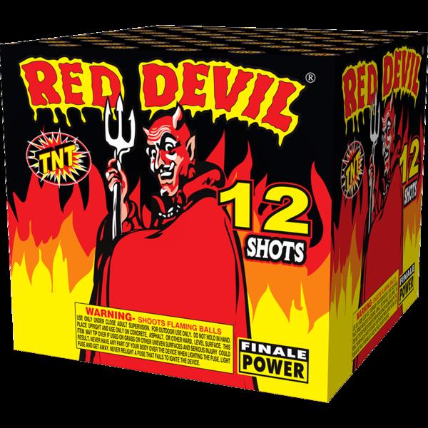 500 Gram Firework Supercenter Red Devil 12 Shot