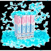 Firework Novelty Sparkler Gender Reveal Blue Confetti Cannon Thumbnail 3